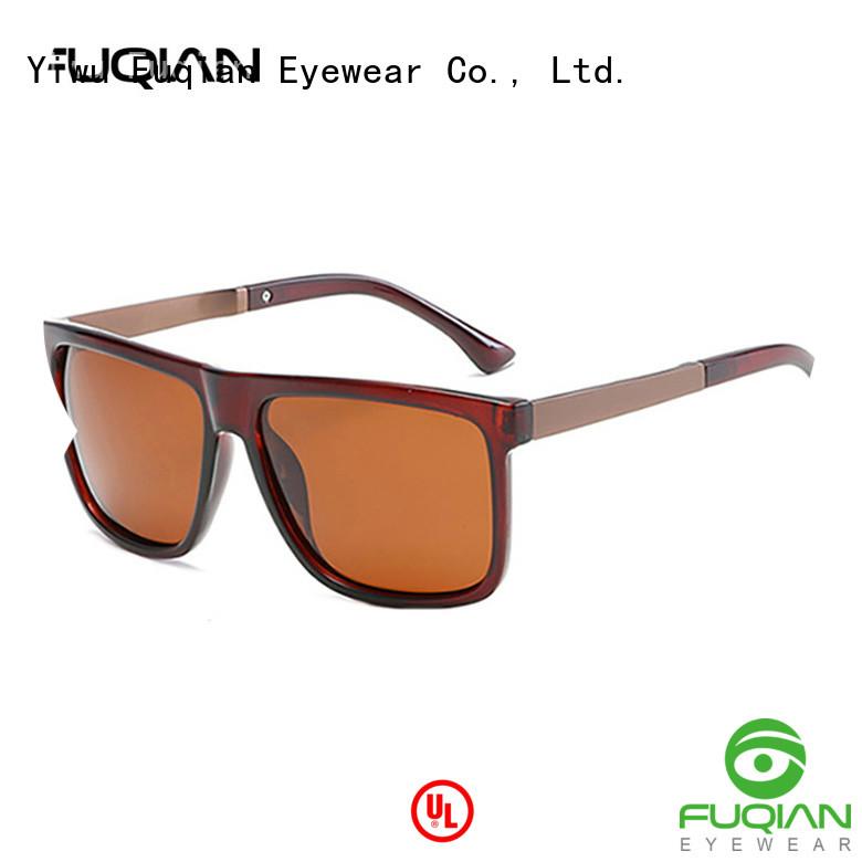 Fuqian men round sunglasses men manufacturers for men