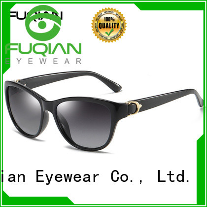 Fuqian women's polarized mirrored sunglasses for business for racing
