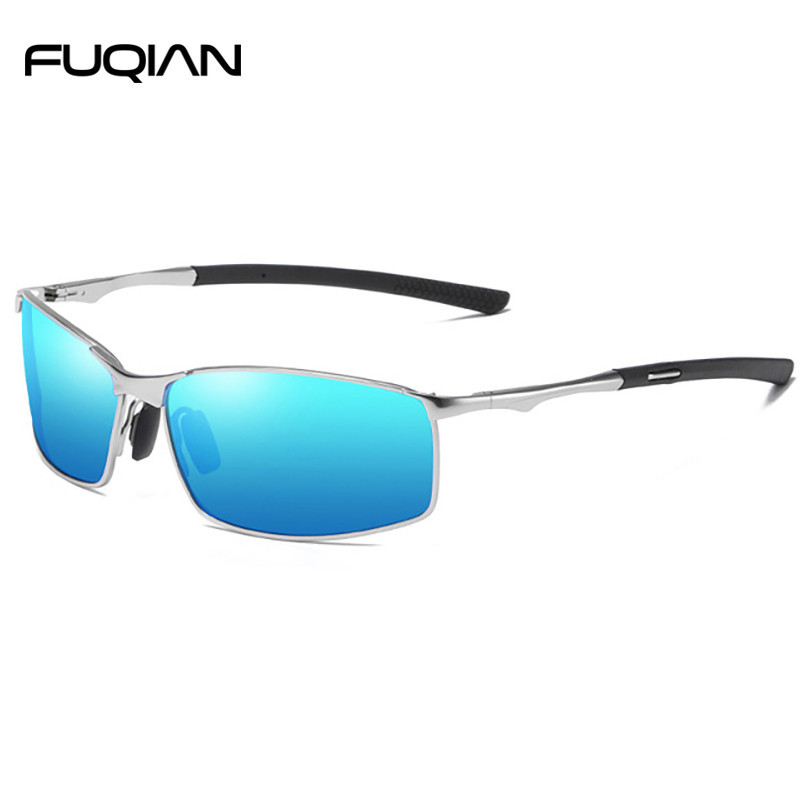 Rectangle Alloy Frame Outdoor  Men Male Sunglasses Polarized