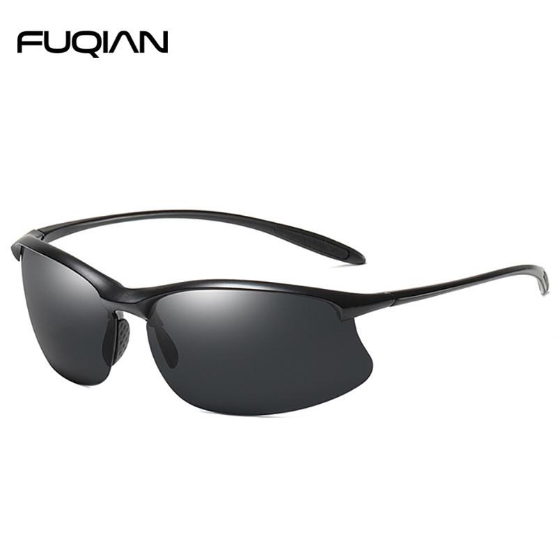 2019 Vintage Rimless TR90 Sports Athletic Polarized Sunglasses For Men