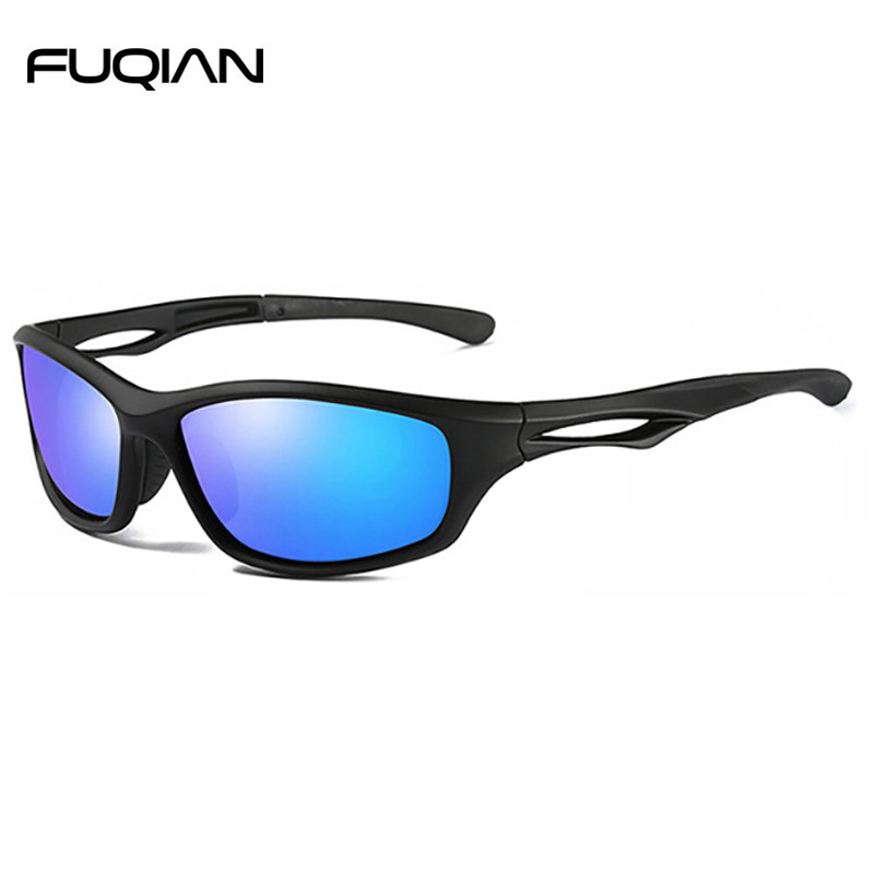 Fashion Soft Material TR90 Polarized Men Outdoor Sports Athletic Sunglasses