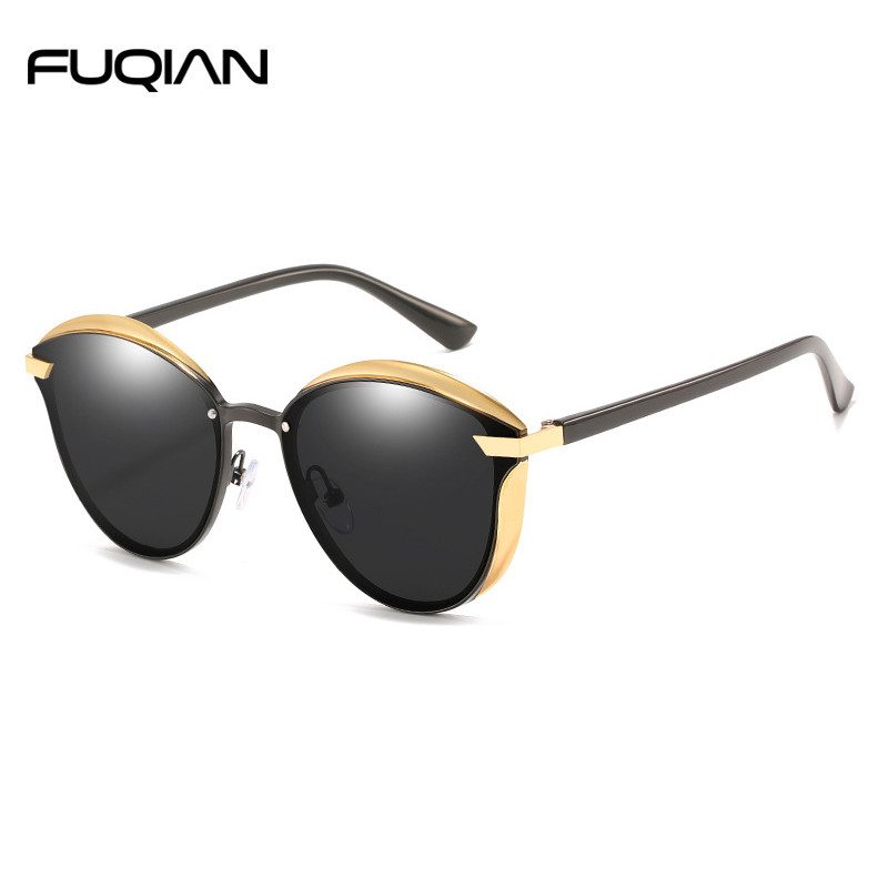 Luxury Cat Eye Metal Polarized Sunglasses For Women