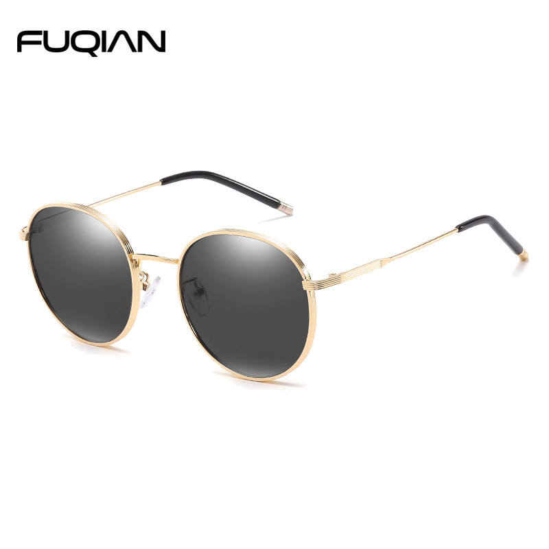 Fashion Metal Round Polarized Sunglasses For Men and Women