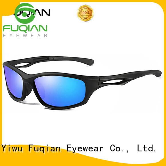 Fuqian athletic polarized sports sunglasses metal frame for gentlemen