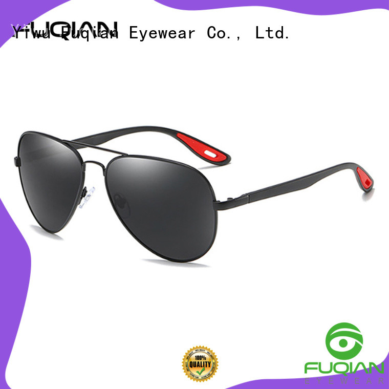 Fuqian square aviator sunglasses mens factory for driving