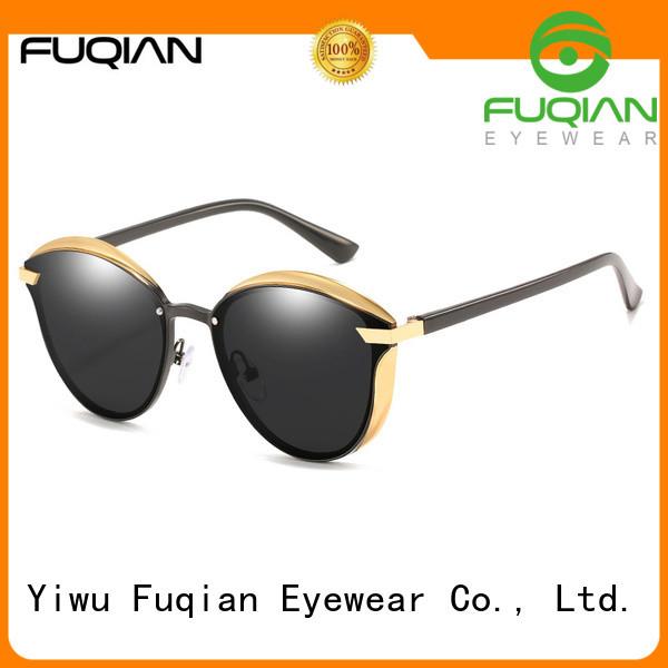 Fuqian women glass lens polarized sunglasses factory for racing