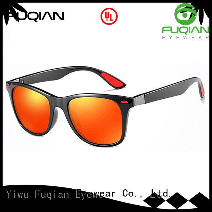 Fuqian men mens gold sunglasses factory for sport