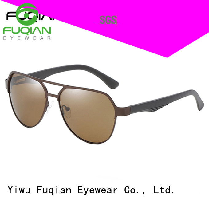 Fuqian custom square aviator sunglasses mens for driving