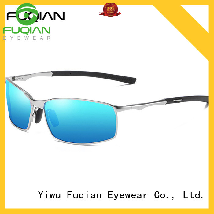 Fuqian gold frame sunglasses mens Suppliers for running