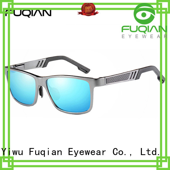 Fuqian mirrored sunglasses mens factory price for sport