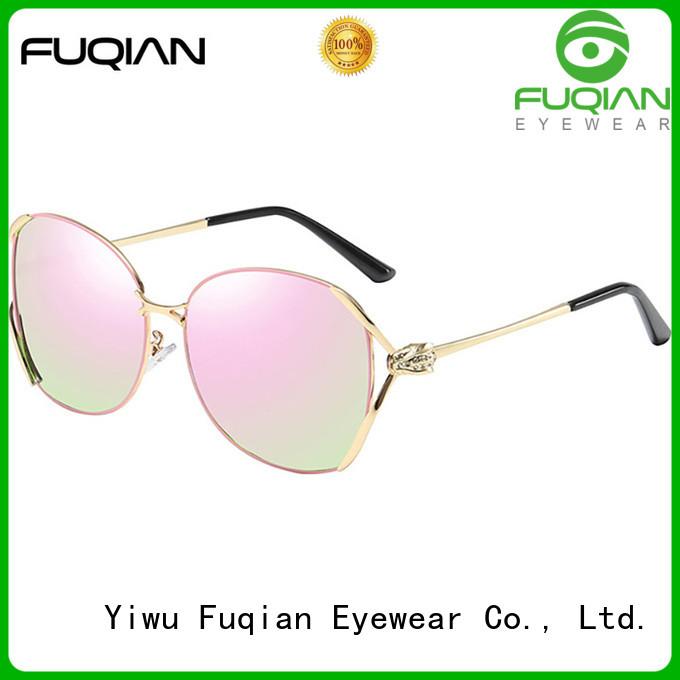 Fuqian lightweight mirrored sunglasses women