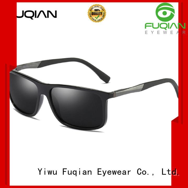 Fuqian round sunglasses men fashion design for running