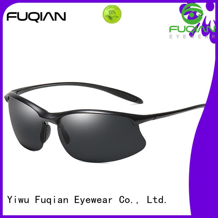 Fuqian sports sunglasses metal frame for outdoor activities
