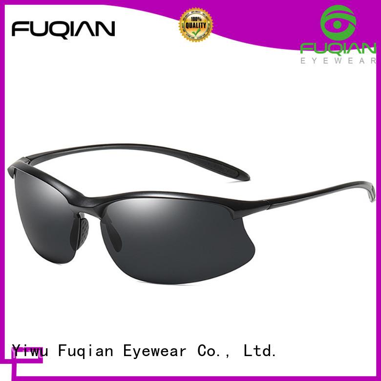 Fuqian athletic uv protection sunglasses luxury style for gentlemen