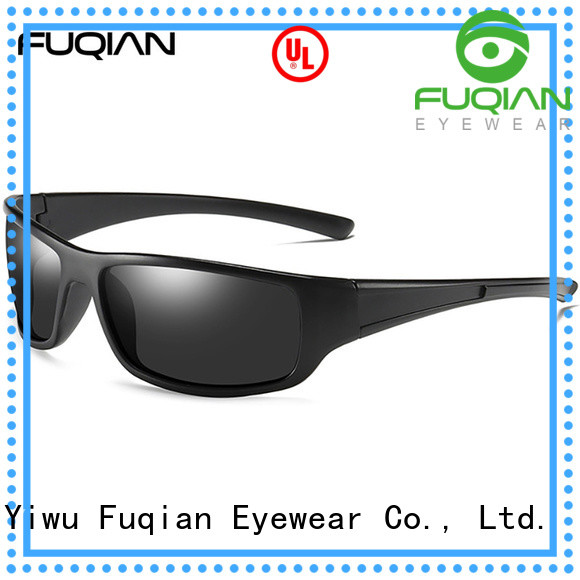 Fuqian mens sport sunglasses metal frame for outdoor activities
