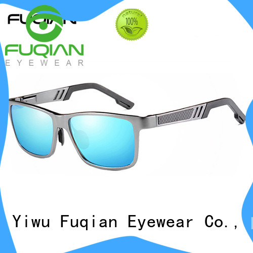 Fuqian fashion silver sunglasses mens for men