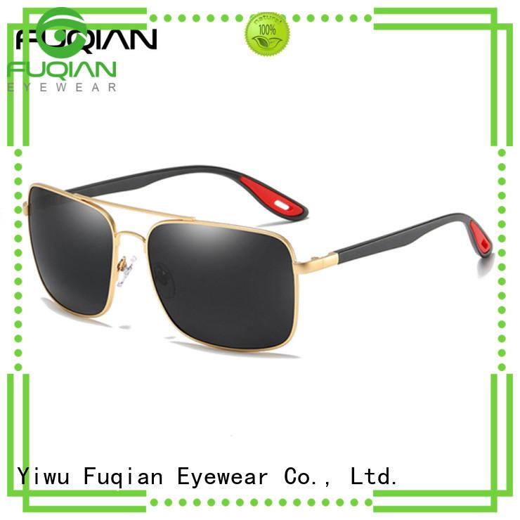 Fuqian male men's polarized mirrored sunglasses customized for men