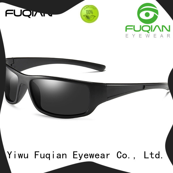 Fuqian men's polarized sport sunglasses company for gentlemen