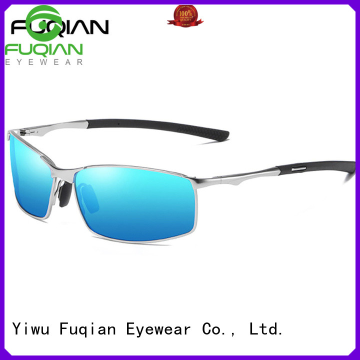 Fuqian polarized white frame sunglasses mens Suppliers for sport
