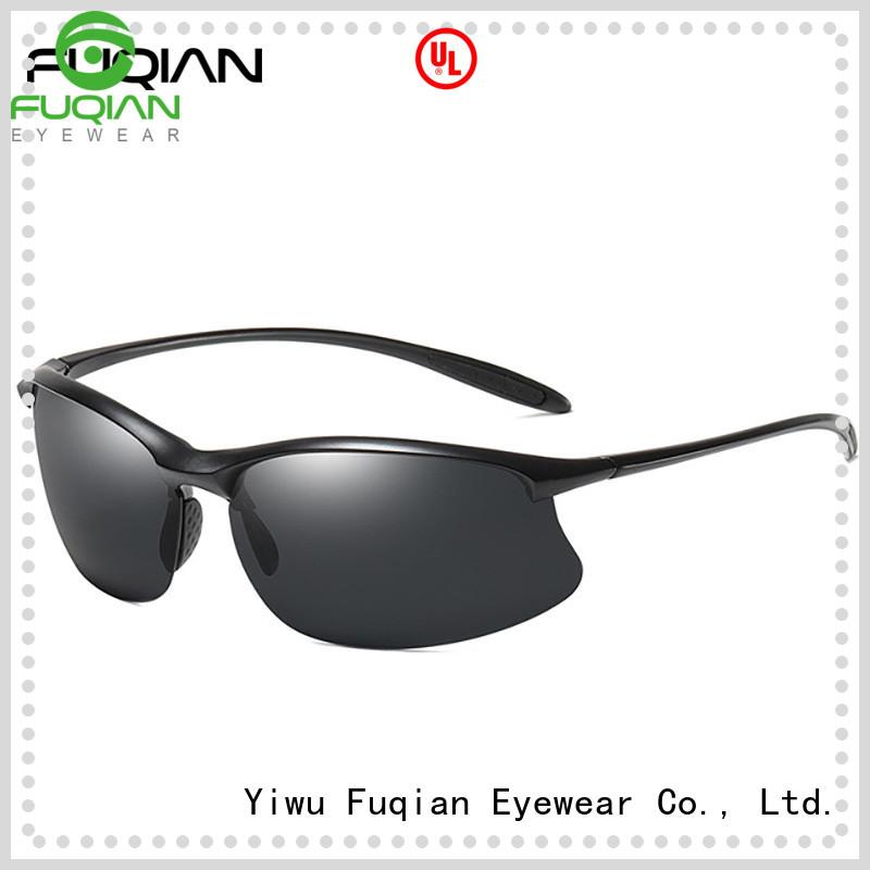 Fuqian vintage women's sport sunglasses metal frame for gentlemen
