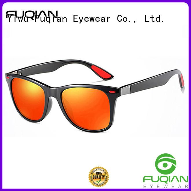 Fuqian custom white frame sunglasses mens Suppliers for men