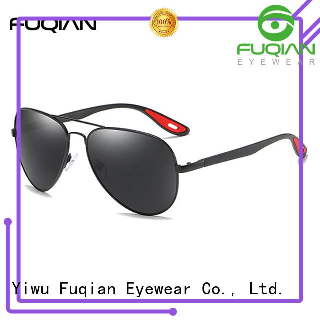 Fuqian fashion silver sunglasses mens for business for sport