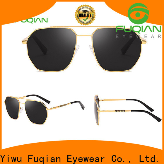 Fuqian male mens brown sunglasses fashion design for men