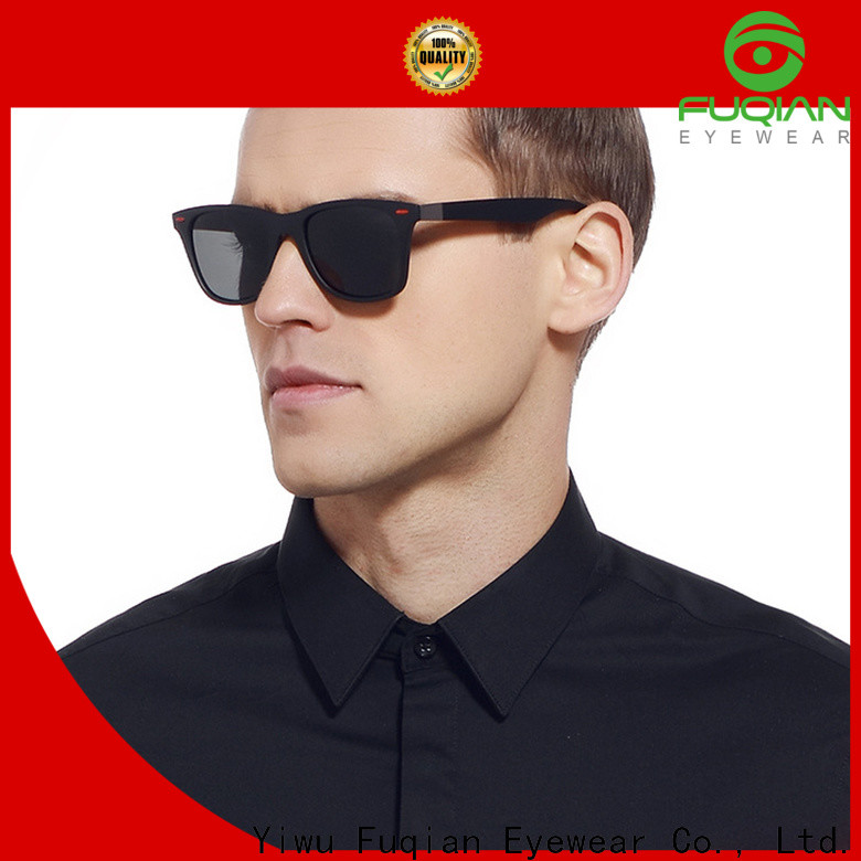 Fuqian custom square aviator sunglasses mens factory for running