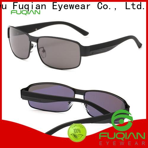 Fuqian custom mens gold sunglasses for business for sport