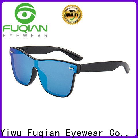 Fuqian mirrored sunglasses mens factory for running