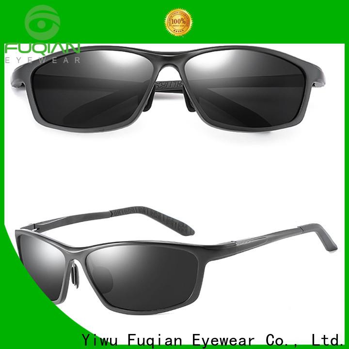 Fuqian polarized wrap around sunglasses customized for driving