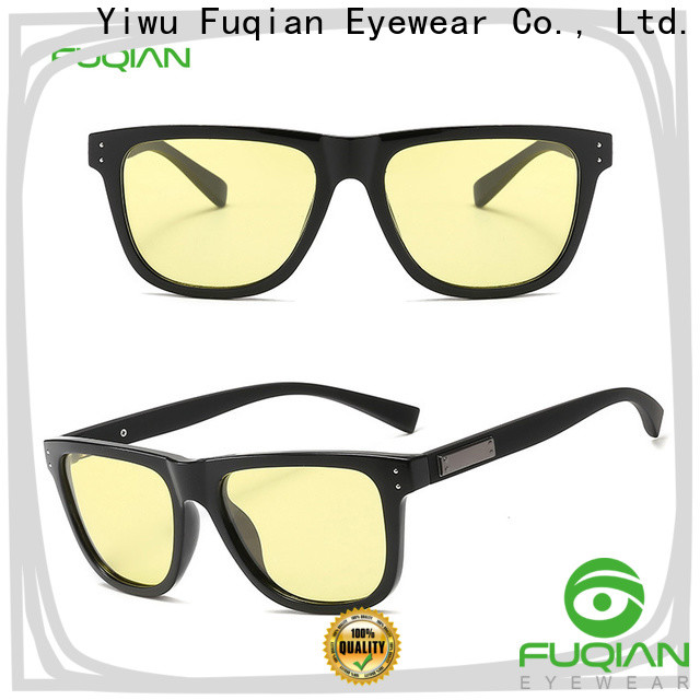 Fuqian men's polarized mirrored sunglasses fashion design for men