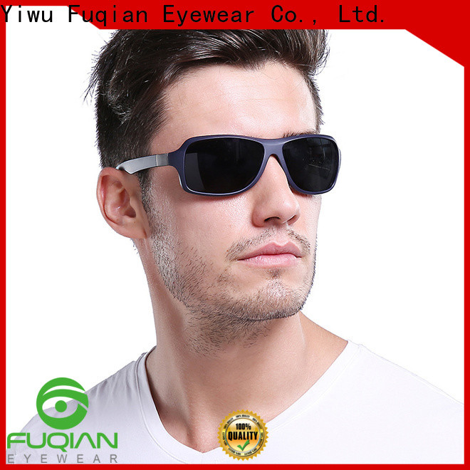 Fuqian polarized black flys sunglasses customized for running