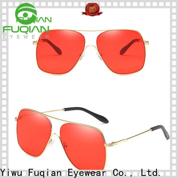 Fuqian custom rhinestone sunglasses factory for men