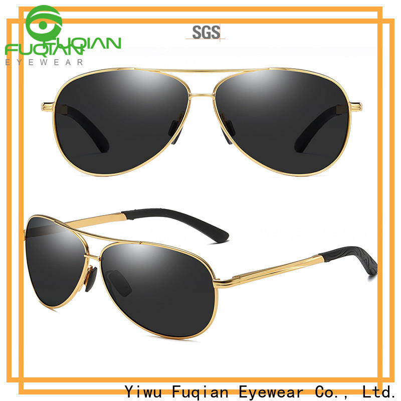 Fuqian polarized white frame sunglasses mens for business for men