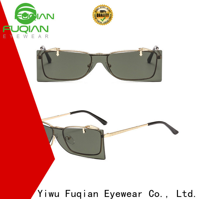 Fuqian womens metal sunglasses for business for lady