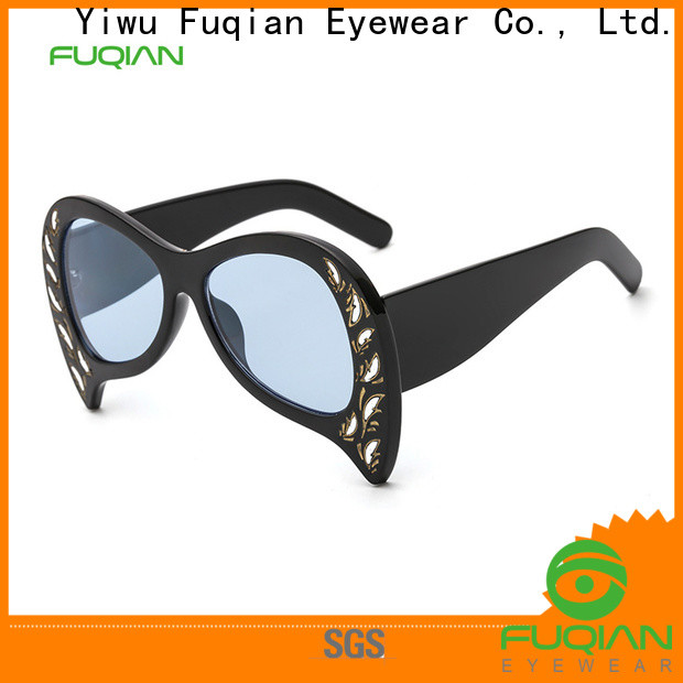 Fuqian lady womens blue aviator sunglasses manufacturers for racing