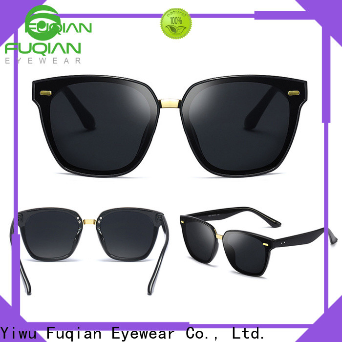 Fuqian womens black aviators company for lady
