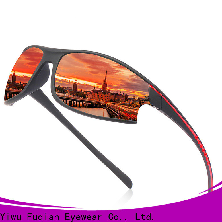 Fuqian outdoor men's polarized sport sunglasses factory for outdoor activities