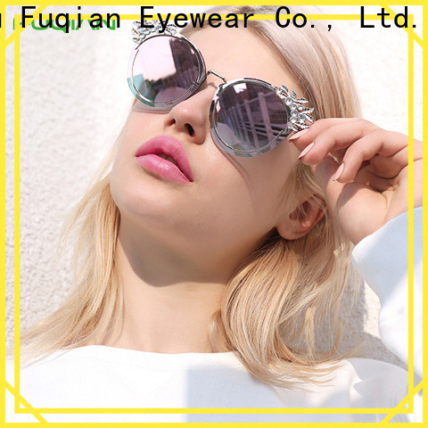 Fuqian ODM high quality womens blue sunglasses manufacturers for sport