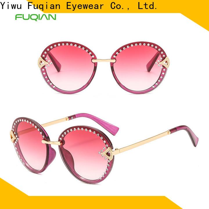 Fuqian women's aviator sunglasses sale manufacturers for racing