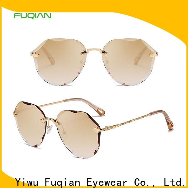 Fuqian Latest womens black designer sunglasses customized for women