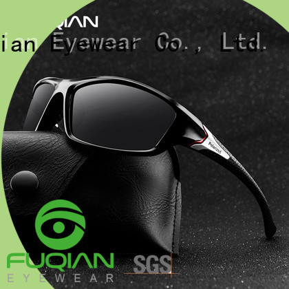 Fuqian TR90 best dark polarized sunglasses suitable for any face for climbing