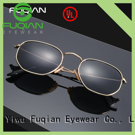 Fuqian fashion men's sunglasses with gold sides company for men