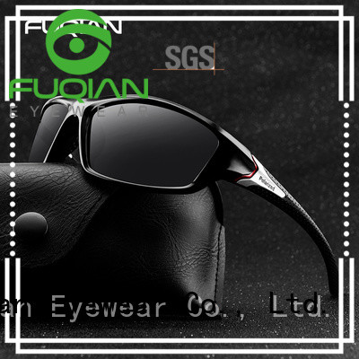 Fuqian vintage polarized sunglasses work by metal frame for lady